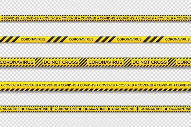Zwart en geel gevaar quarantainestrepen