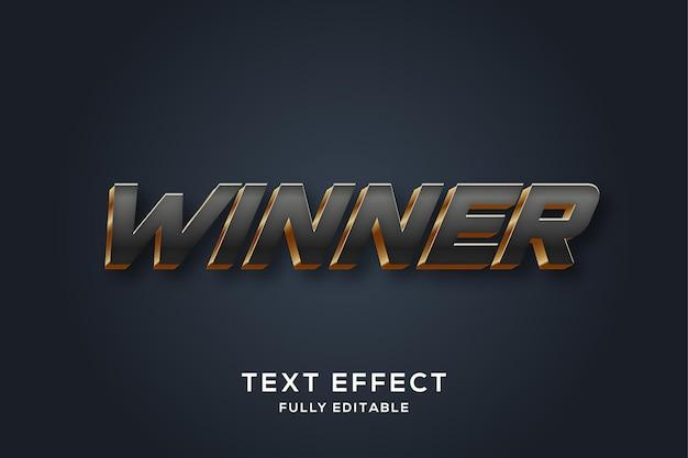 Zwart en goud 3d-teksteffect