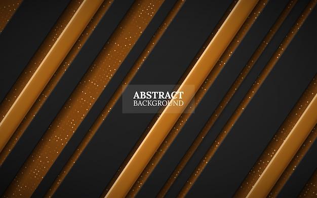 Zwart en goud abstracte achtergrond Premium Vector