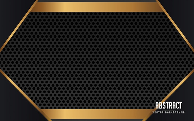 Zwart en goud abstracte geometrische geometrische achtergrond