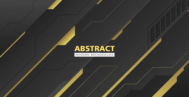 Zwart en goud abstracte moderne achtergrond