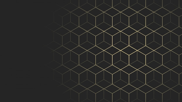 Zwart en goud geometrische webpagina grootte achtergrond
