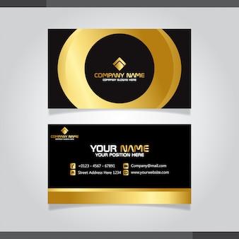 Zwart en goud moderne visitekaartje vector sjabloon
