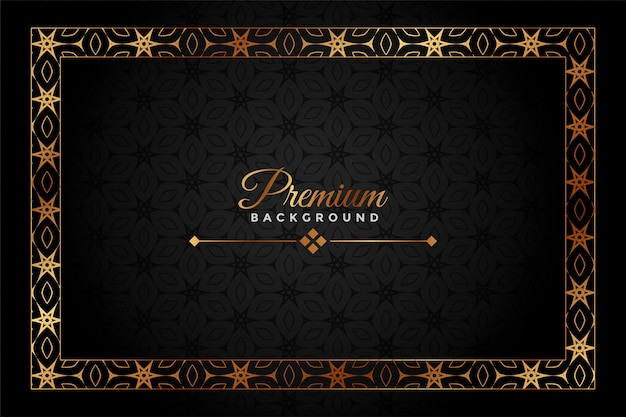 Zwart en goud premium decoratieve achtergrond