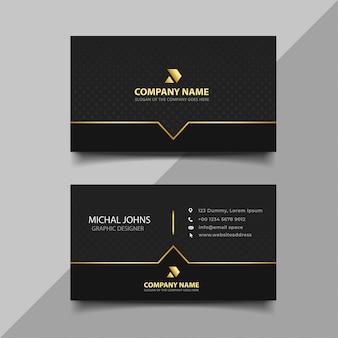 Zwart en goud visitekaartje