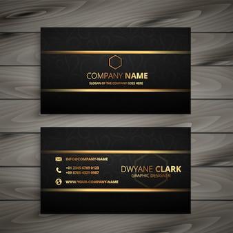 Zwart en gouden premium visitekaartje