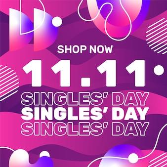 Zwart en gouden singles day-ontwerp