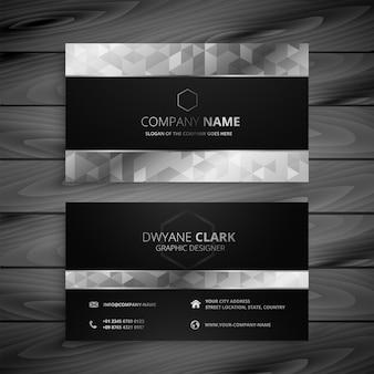 Zwart en grijs premium visitekaartje