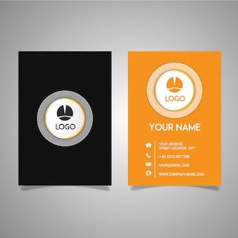 Zwart en oranje adreskaartje