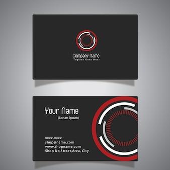Zwart en rood adreskaartje