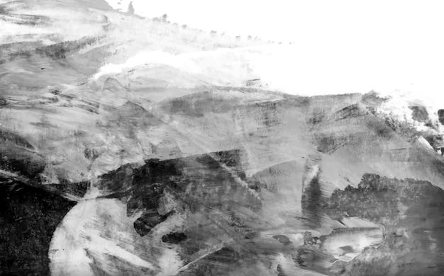 Zwart en wit acryl penseelstreek gestructureerde achtergrond vector