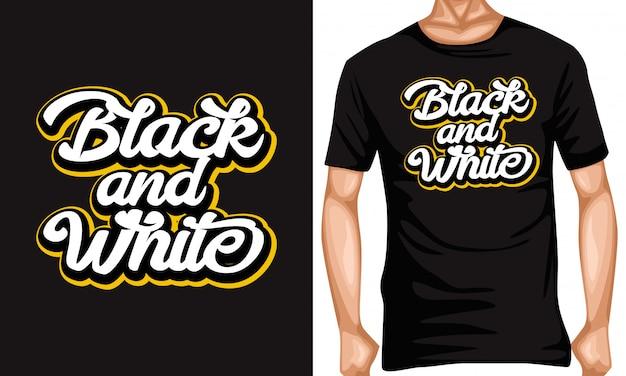 Zwart en wit belettering typografie citaten