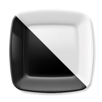 Zwart en wit bord