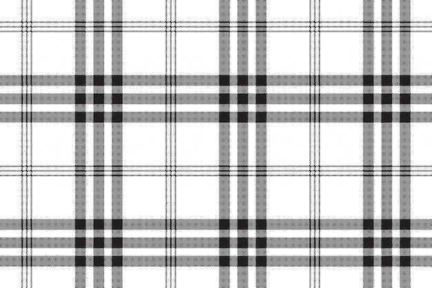 Zwart en wit controleren pixel vierkante stof textuur naadloze patroon