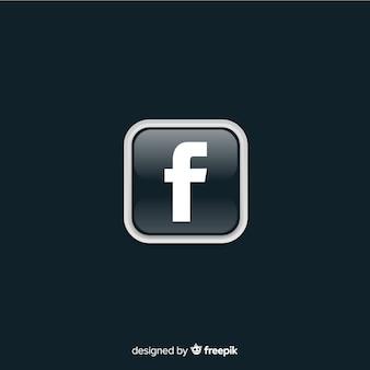 Zwart en wit facebooksymbool