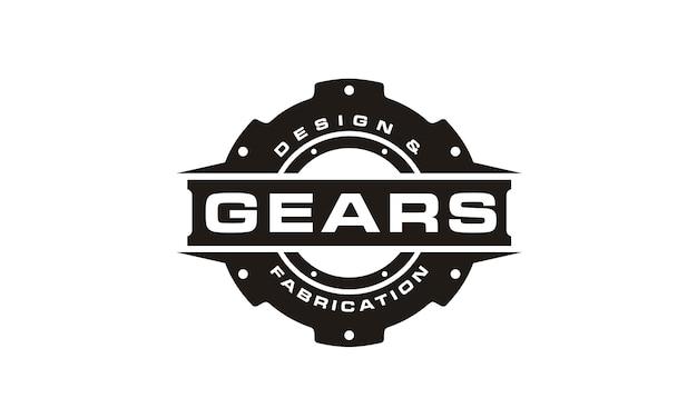 Zwart en wit gear logo