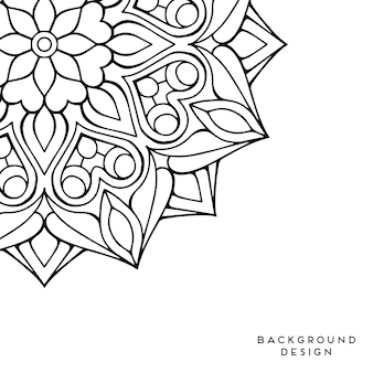 Zwart en wit mandala achtergrond