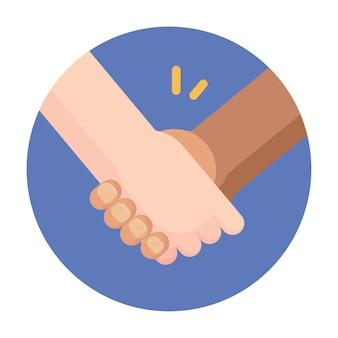Zwart en wit mensen hand in hand