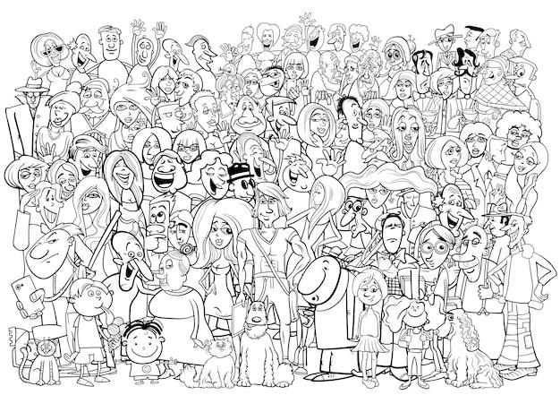 Zwart en wit mensen menigte