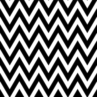 Zwart en wit patroon in zigzag. klassiek chevron naadloos patroon.