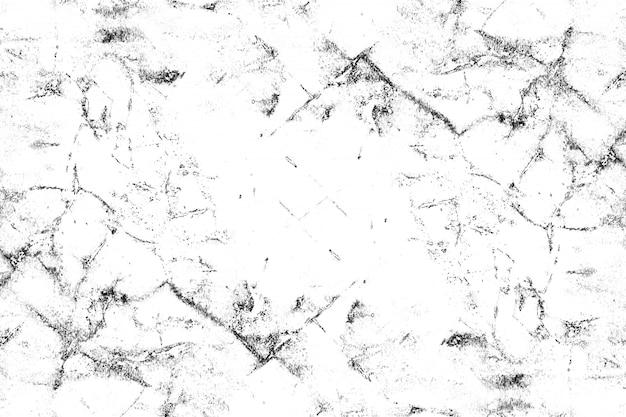 Zwart en wit patroon met scheuren, slijtage, chips, vlekken, inktvlekken.