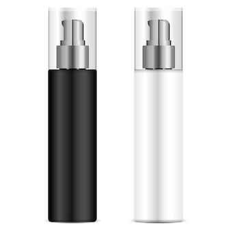 Zwart en wit pomp dispenser fles set