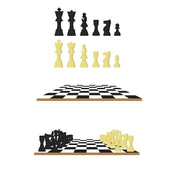 Zwart en wit schaken