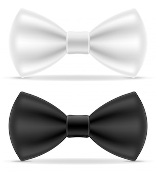 Zwart en wit strikje voor mannen een pak
