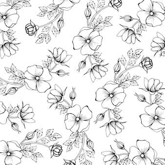 Zwart en wit valentine patroon achtergrond
