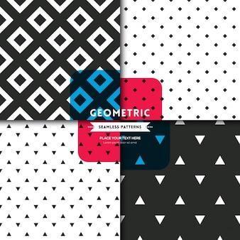Zwart en wit vierkant diamant geometrische naadloze patroon achtergrond