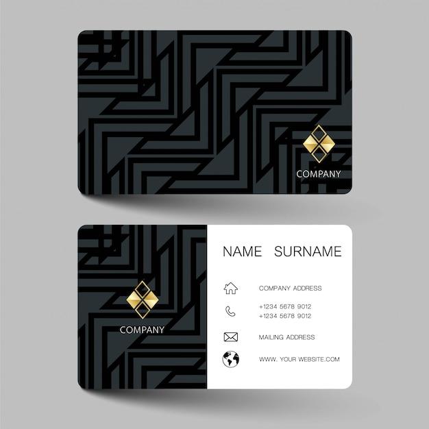 Zwart en wit visitekaartje ontwerp.