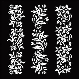 Zwart en witte bloemen
