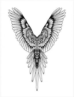 Zwart en witte vleugels