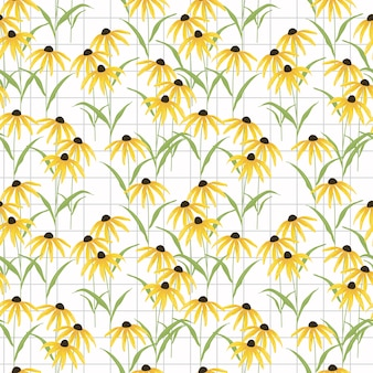 Zwart eyed susan bloem naadloos patroon