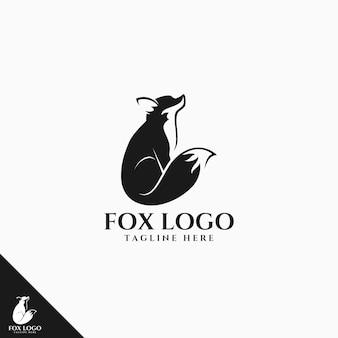 Zwart fox-logo