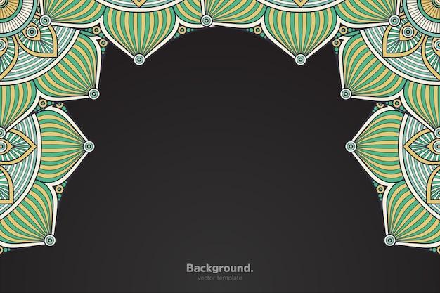 Zwart frame met abstracte oosterse mandala