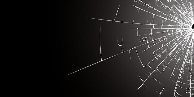 Zwart gebroken glas