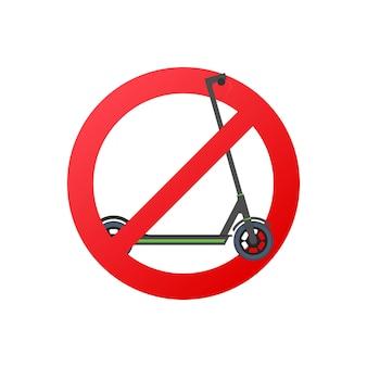 Zwart geen scooter. 3d render illustratie. zwarte achtergrond. vector illustratie.
