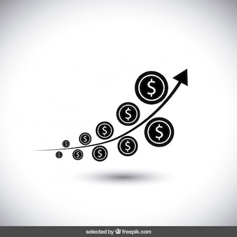 Zwart geld groei chart