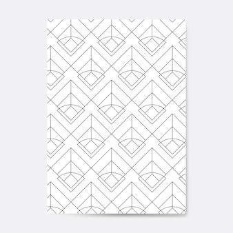 Zwart geometrisch naadloos patroon op een witte kaart