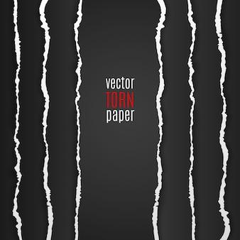 Zwart gescheurd papier. sjabloon achtergrond