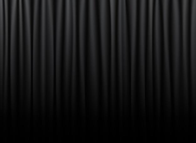 Zwart gordijn van de bioscoop, theater, opera.
