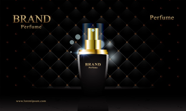 Zwart goud lederen bekleding cosmetische achtergrond