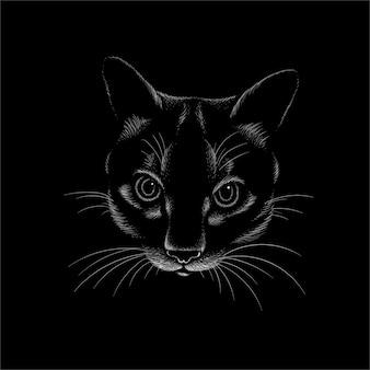 Zwart kattenontwerp.