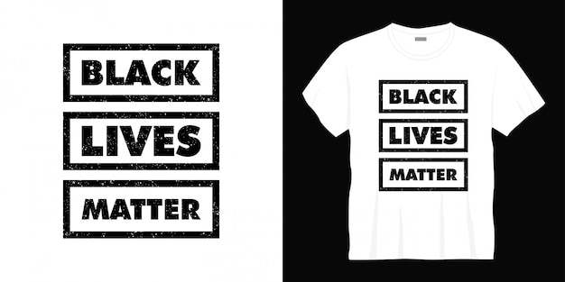 Zwart leven kwestie typografie t-shirt design
