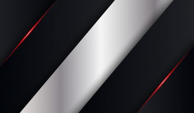 Zwart metallic rood glanzend tech vouw schaduw achtergrond