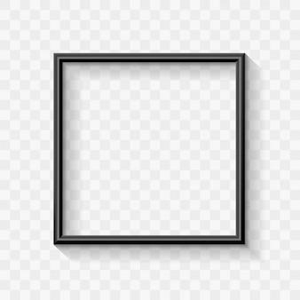Zwart modern frame border design voor advertentiebanner