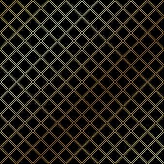 Zwart naadloos geometrisch patroon met gouden kleur.