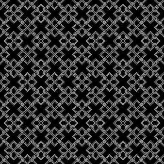 Zwart naadloos patroon in oosterse stijl