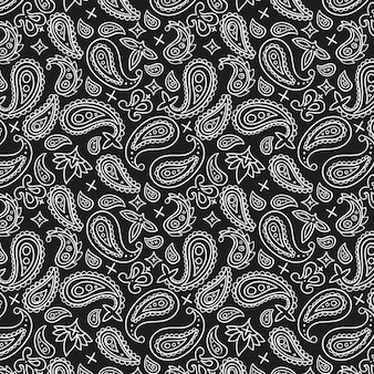 Zwart paisley bandanapatroon